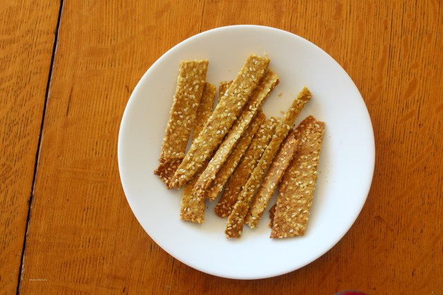 Homemade Sesame Sticks Recipe with Sprouted Flour