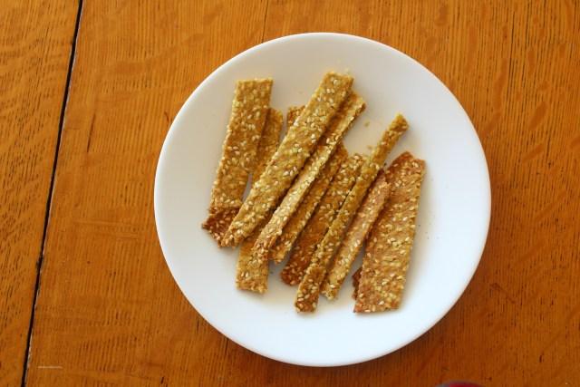 Homemade Sesame Sticks Recipe with Sprouted Flour