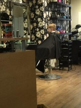 That Amazing Friday Feeling- J having his hair cut