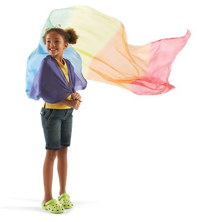 rainbow play silk canopy