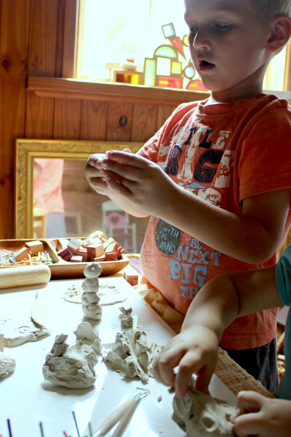 clay sculpting for children