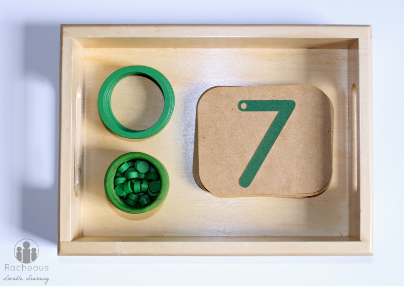 montessori diy numbers