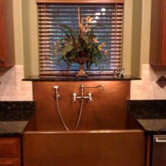 Kitchen Faucet Wall Mount Nooks Copper Sinks With Integral Back Splashes By Rachiele