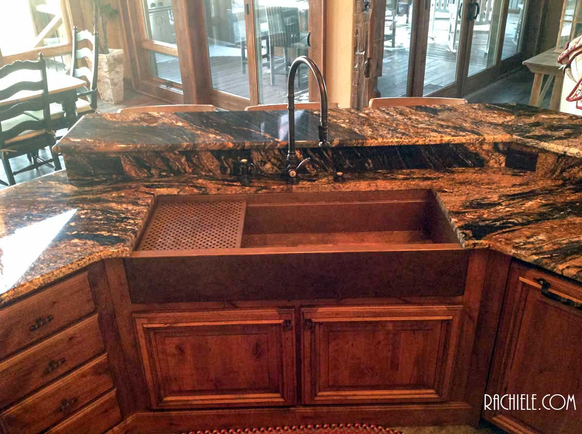 copper sink kitchen sage green cabinets sinks workstation with cutting boards and grid this is a 48 signature series farmhouse waterstone 5500 faucet soap dispenser air switch