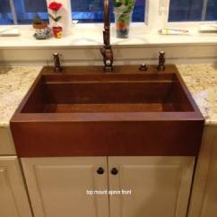 Drop In Farmhouse Kitchen Sinks Blinds For Windows Copper Top Mount, In, Workstation Sink By ...