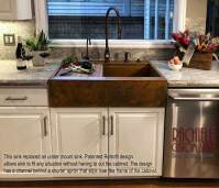 Retrofit copper apron farmhouse sinks - Top Mount or Under ...