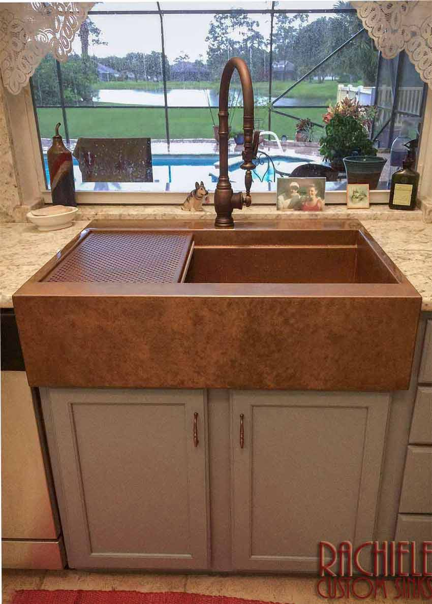 copper farm sinks hand crafted and