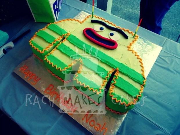 Brilliant A Yo Gabba Gabba Birthday Rach Makes Cakes Funny Birthday Cards Online Elaedamsfinfo