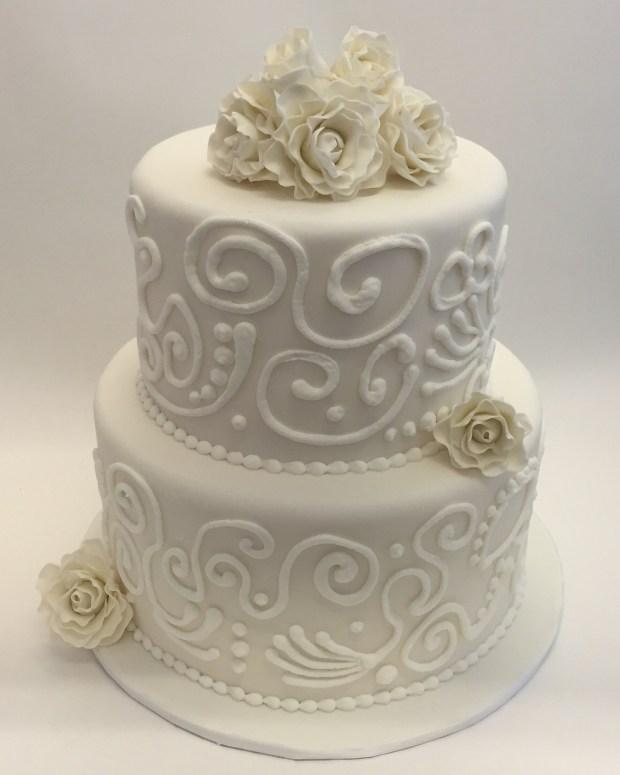 White Wedding On Youtube: All White Wedding Cake