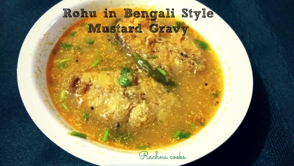 rohu in bengali style mustard  curry