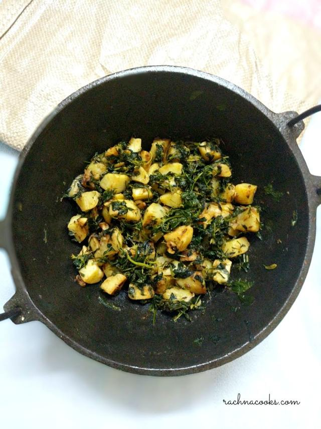 Aloo methi recipe potato with fenugreek leaves rachna cooks do also subscribe to my food channel for some easy recipe videos forumfinder Images