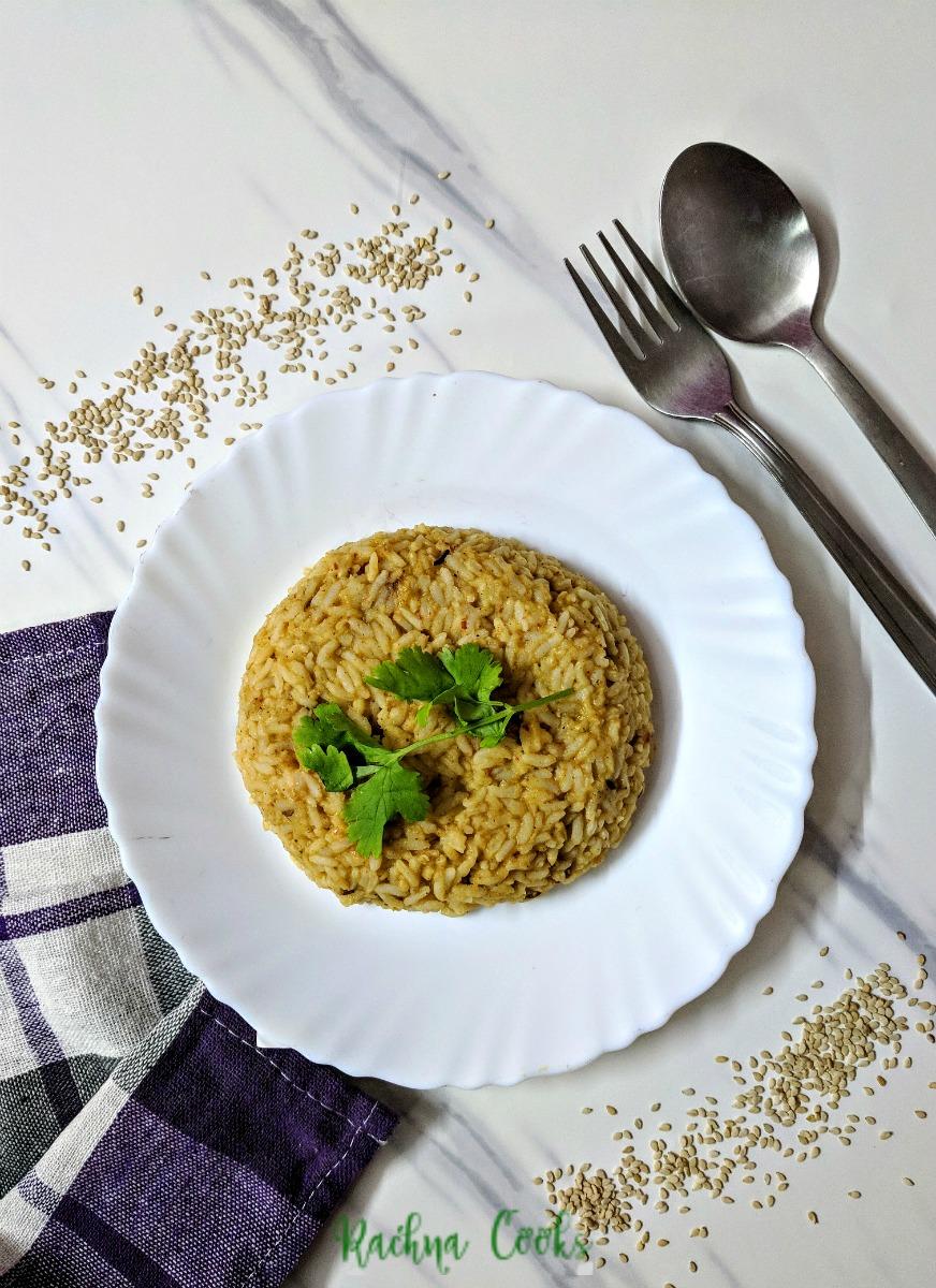 Til ki Khichdi Recipe | Sesame Khichdi