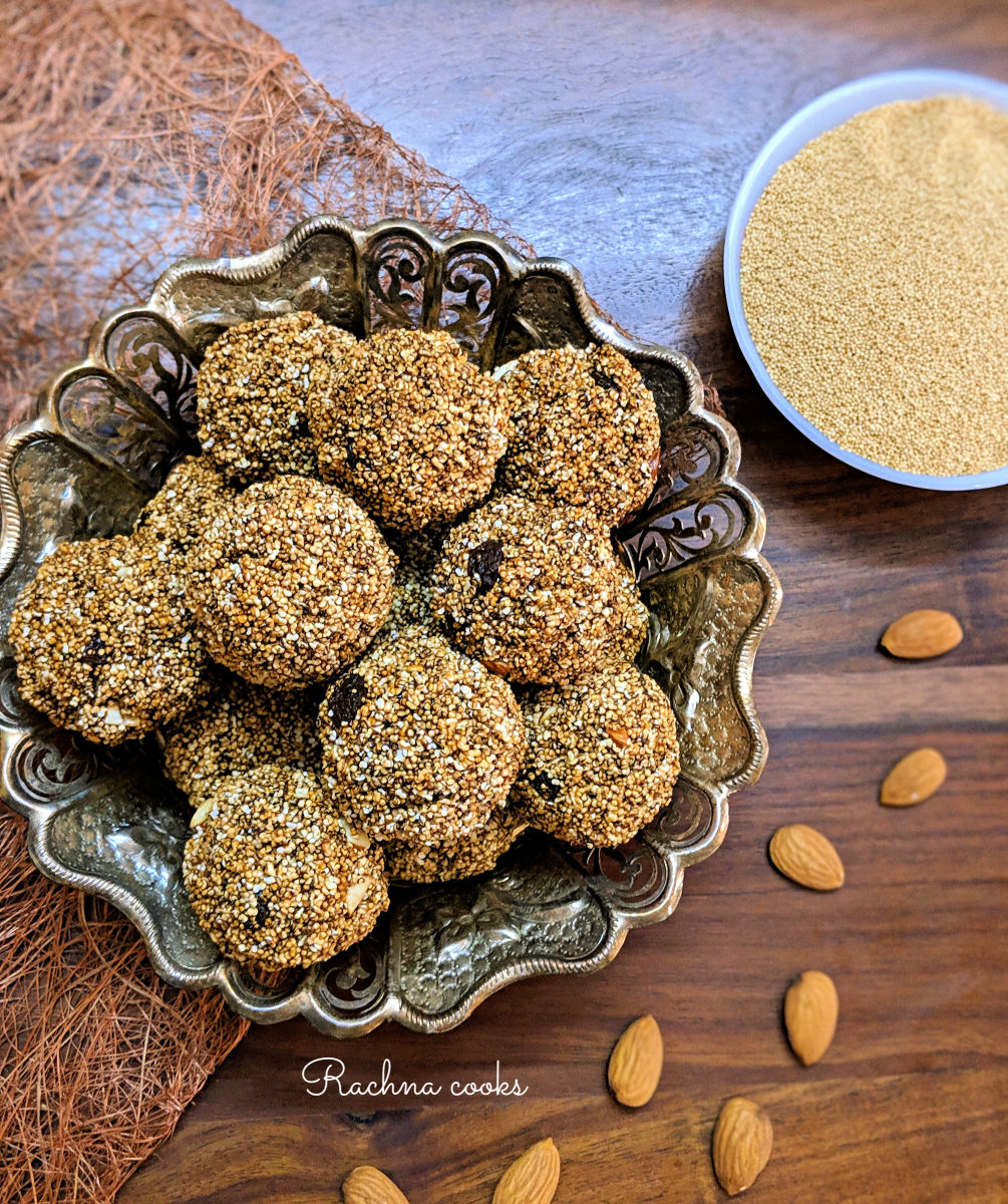 High Protein Popped Amaranth Energy Balls | Rajgira Laddu