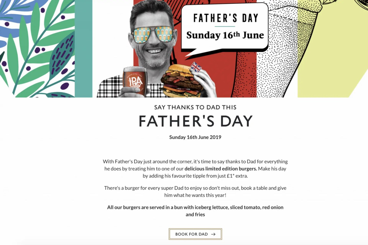 Greene King Fathers Day Offer