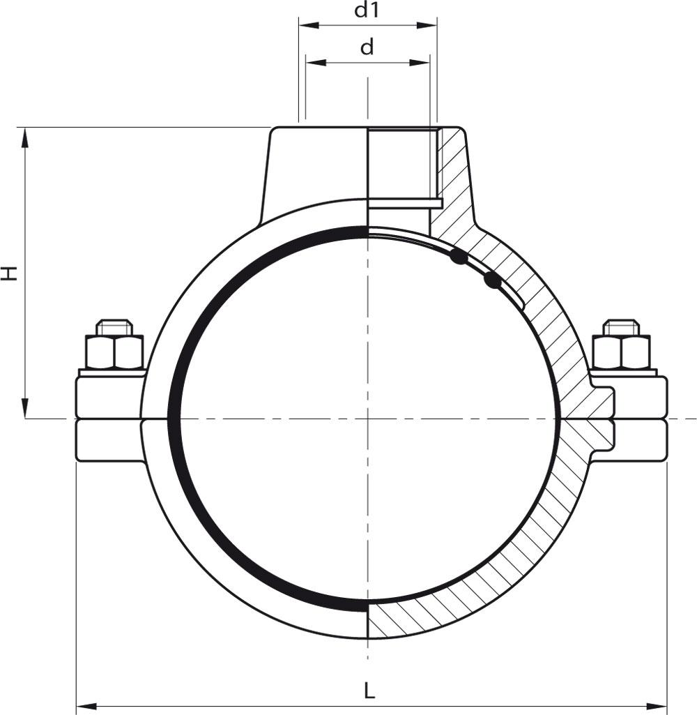 hight resolution of collari di presa per tubi in pe e pvc 2