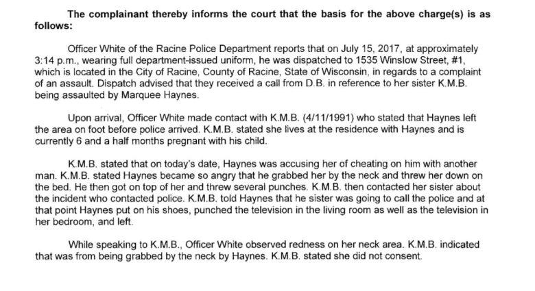 Narrative of Haynes Criminal Complaint