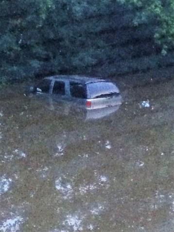 Flooding around Fox Tree Circle in Burlington.