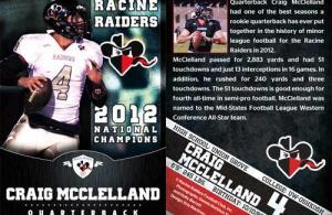 Craig McClelland trading card