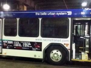 Racine Raiders Belle Urban System ads