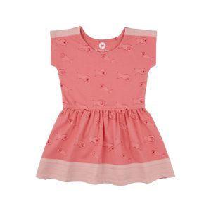 Robe poisson - Rose Corail - Bio - GOTS - La Queue du Chat