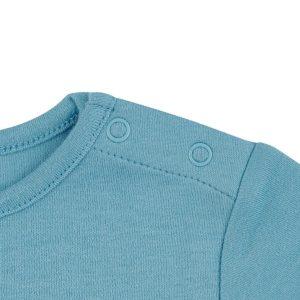 T-shirt Bleu Bretagne - GOTS - Biologique - Economique - Bébé