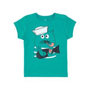 T-shirt Vert Tropical - GOTS - Biologique - Economique - Bébé