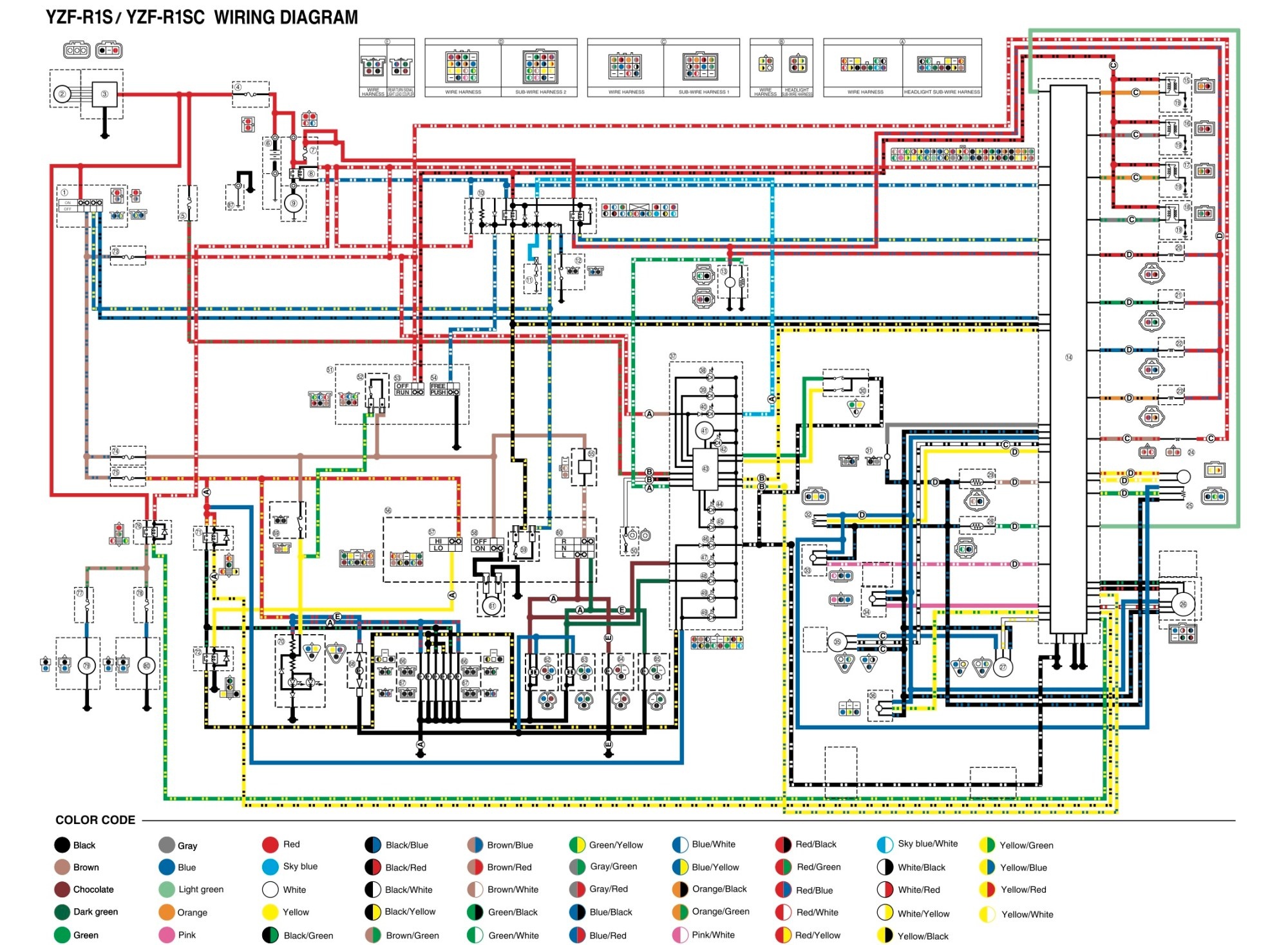 hight resolution of yamaha wiring harness diagram wiring diagrams yamaha blaster wiring diagram yamaha r6 key switch wiring