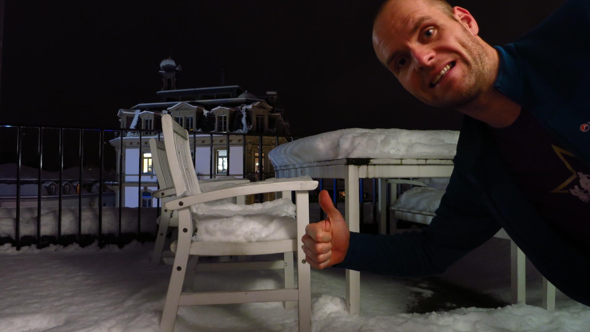 20cm Neuschnee Winter Weihnachten Interlaken