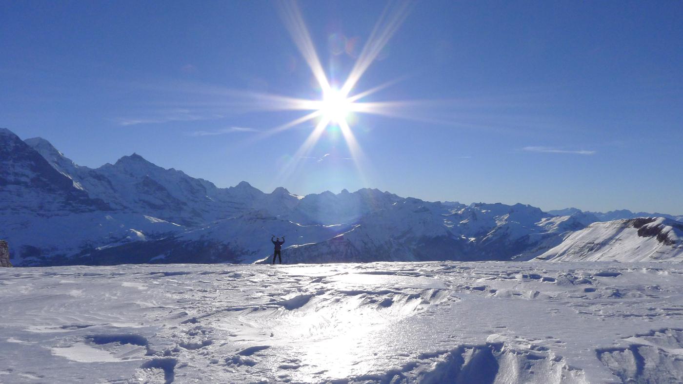 Am Gipfel des Faulhorns eisig