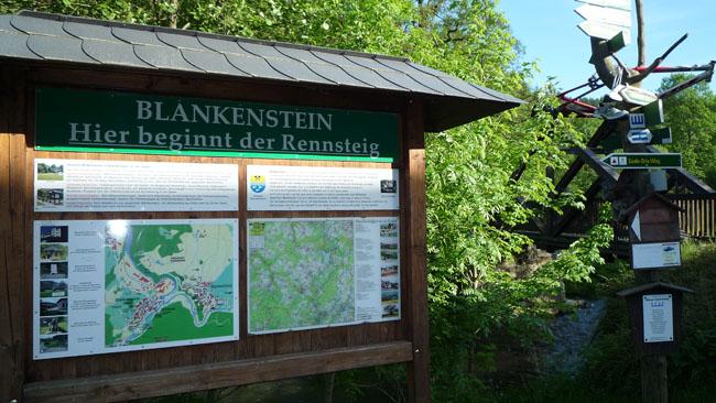 Start Rennsteig in Blankenstein