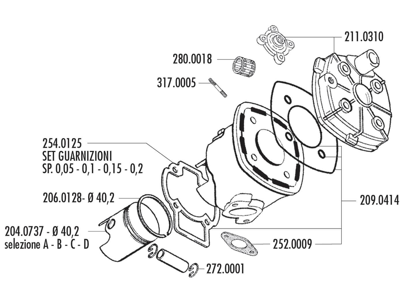 hight resolution of cylinder gasket set polini evolution 50cc for minarelli lc back polini polini 50cc engine diagram