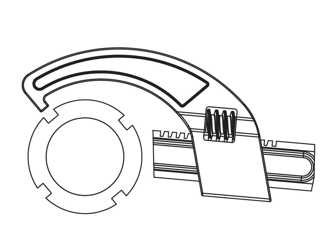 Nutmutternschlüssel Buzzetti einstellbar 25-70mm