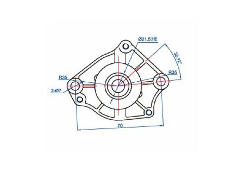 Anlassermotor für Peugeot 100ccm, Honda 100ccm