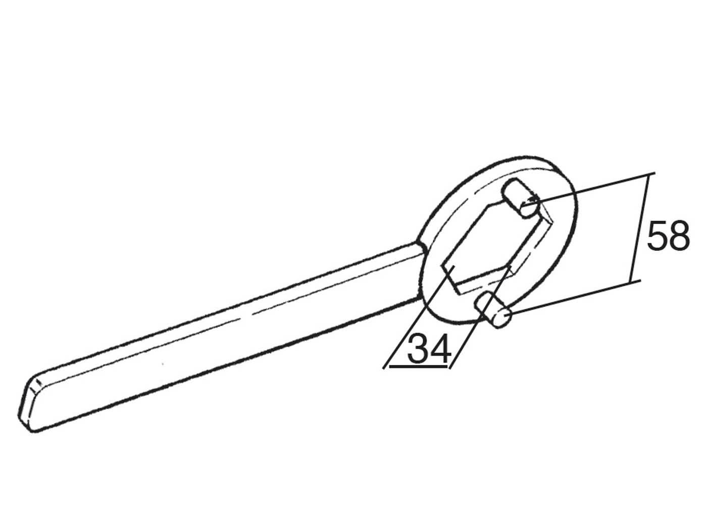 Kupplungsschlüssel Haltewerkzeug Buzzetti 34mm für Piaggio