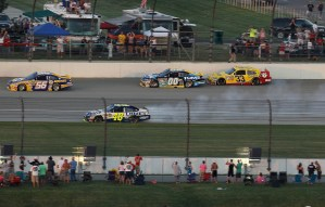 2010 Chicagoland1 July NSCS Jimmie Johnson off track