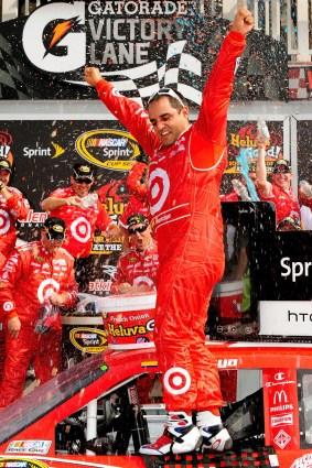 2010_Watkins_Glen_Aug_NSCS_race_Juan_Pablo_Montoya_victory_lane