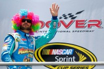 jimmie-johnson-madagascar-3-rainbow-wig-nascar-sprint-cup-dover-june-2012