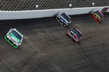 2012 New Hampshire July NASCAR Sprint Cup Kyle Busch leads