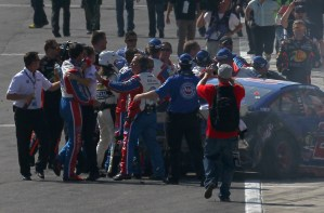 auto-club-400-fight-joey-logano-tony-stewart-nascar-2013