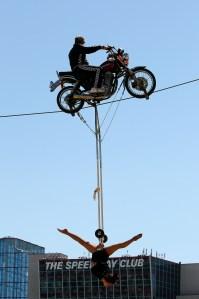 Texas_Motor_Speedway_NSCS_041313_Tightrope_Motorcycle_Acrobat_PreRace