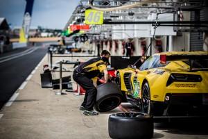 Corvette Team pit practice. #74 -