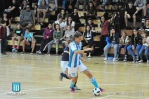 Racing, ante Sportivo Barracas, en el futsal femenino.