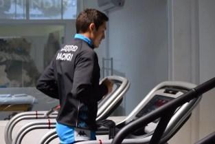 Neri Cardozo entrenando en Racing.