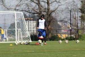 Vittor, en el entrenamiento.
