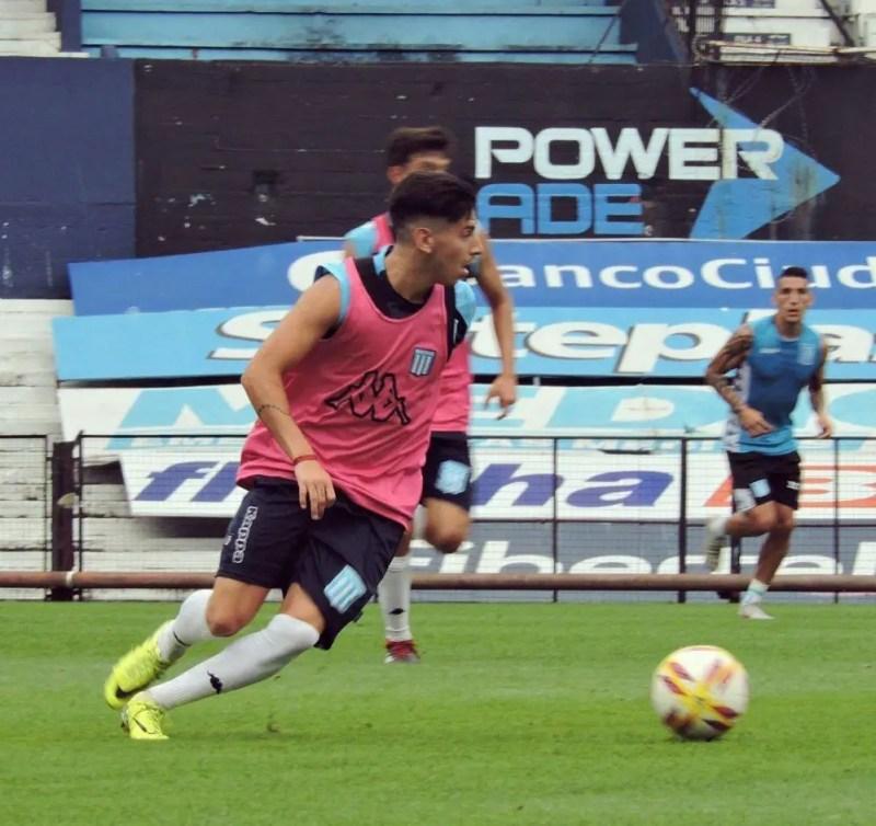 Muscio debutó en Primera contra Tigre, en el último partido de Racing en el semestre.