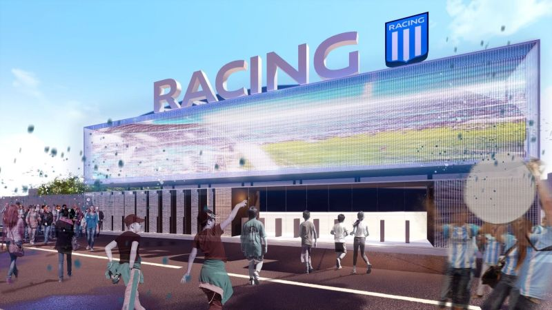 Pórtico de acceso. Bienvenidos a Racing.