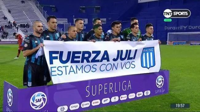 Julián López y su mensaje a Racing