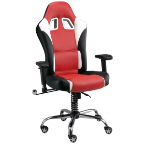office chair red swivel vanity with wheels pitstop se