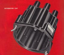 A new distributor cap assures a hotter, more reliable spark