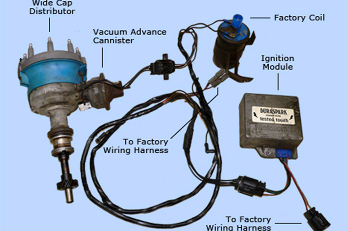 duraspark wiring diagram ford hiniker plow converting from points to electronic ignition  racingjunk